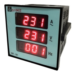 Voltage Current Frequency Meter